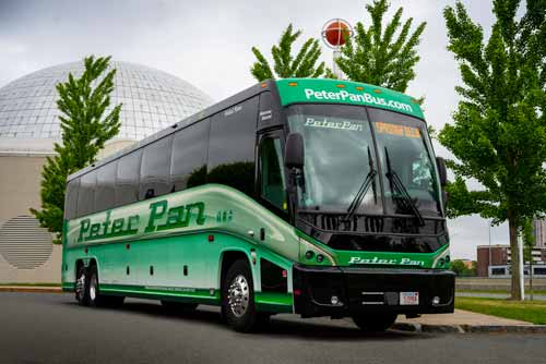 the peter pan express bus is the safest and fastest way to visit washington dc